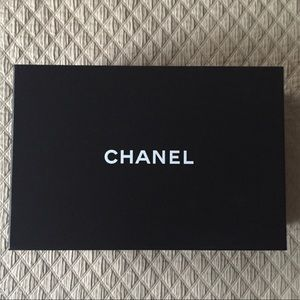 New Chanel Black & White Shoe Box, Tissue & Card